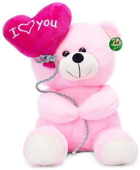 Tickles Gorgeous I Love You Balloon Heart Teddy - 18 Cm