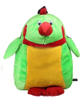 Tickles Green Parrot BackPack For Kids 36 cm ( 3 Liters )