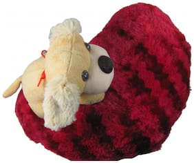 Tickles Heart Dog cushion Soft Stuffed For Kids 37 cm