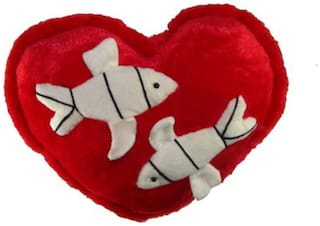 Tickles Heart Cushion With Fish - 35 Cm