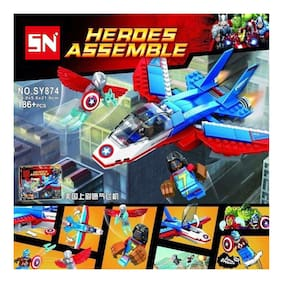 Tickles Heroes Assembl Minifiguires Super Heroes Revengers Model Building Block Sets for Kids 5 Years Plus