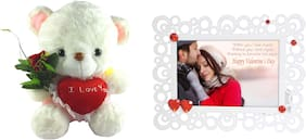 Tickles I love you Heart and Love Couple Photo Frame Soft Toy Gift Set ()