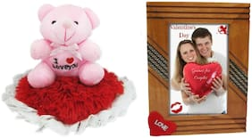 Tickles I Love You Teddy and Love Couple Photo Frame Soft Toy Gift Set ()