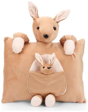 Tickles Kangaroo Cushion Soft Stuffed For Kids 31 cm