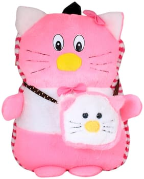 Tickles Kitty Cat Shoulder School Bagpack with Sling Purse for Nursery Kids Girls Boys 35 cm