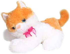 Tickles Lovely Soft Cat Soft Stuffed for Kids 20 cm (Beige;20 cm)