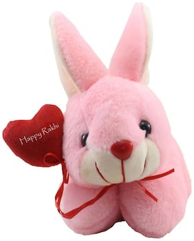 Tickles Loving Rabbit with Rakhi Wishes Heart Soft Stuffed For Raksha Bandhan Special Gift 25 cm