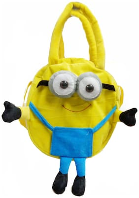 Tickles Minion Hand Purse Soft Stuffed For Kids 21 cm ( 2 L )