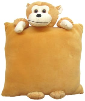 Tickles Monkey Cushion Soft Stuffed For Kids 33 cm