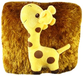 Tickles Multi Girraffe Cushion Stuffed Soft Toy - 30 Cm