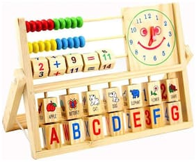 Tickles New Multi-Purpose Calculating Frames Early Baby Learning Educational Wooden Toys Clock Versatile Abacus Flap for Kids 2 yrs Plus