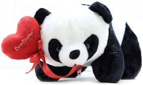 Tickles Panda with Best Brother Heart Soft Stuffed For Raksha Bandhan Special Gift 26 cm