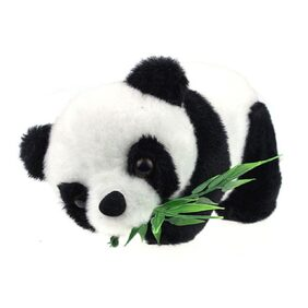 Tickles Panda With Leaves