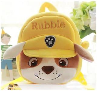 Tickles Paw Patrol Rubble Dog Cartoon Plush Backpack Small School Bag Soft
