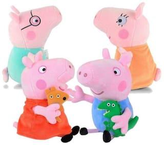 Tickles Peppa Daddy Pig Plush Soft Stuff Plush Toy Teddy for Kids 26 cm (Peppa Pig Family;12 cm)