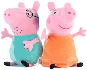 Tickles Peppa Daddy Pig and Peppa Mummy Pig Plush Toy 16 cm