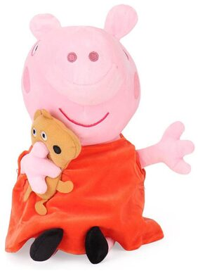 Tickles Peppa Pig with Bear Plush Soft Toy Soft Stuff Plush Toy Teddy for Kids 26 cm