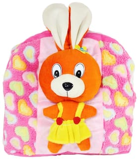 Tickles Pink Funny Rabbit Hand Bag For Kids 40 cm ( 3 Liters )