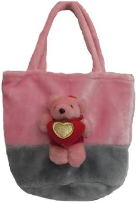 Tickles Pink Pink Teddy Bag 22 Cm ( 3 L )