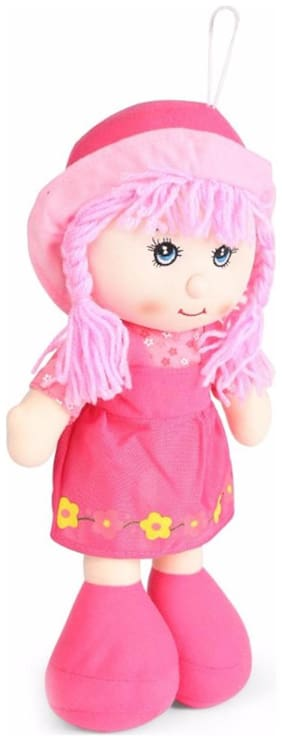 Tickles Pink Gorgeous Smiling Cap Doll Stuffed Soft Plush Toy- 35 Cm
