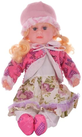 Tickles Pink Gorgeous Musical Singing Doll Kid Toy 43 cm AT-DL081