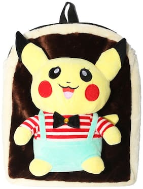 Tickles Pokemon Soft Toy Bag Stuffed Soft Plush Toy For Kids 34 cm ( 3 L )