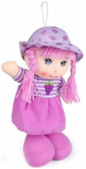 Tickles Purple Soft Toy Plush Doll- 23 Cm