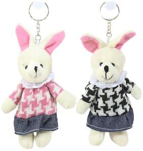 Tickles Rabbit Friends keychain Set of 2 8cm