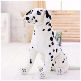 Tickles Realistic Stuffed Animals Sitting Dalmatian Dog Plush Toys for Children's Birthday Gifts Soft Stuffed For Kids 26 cm