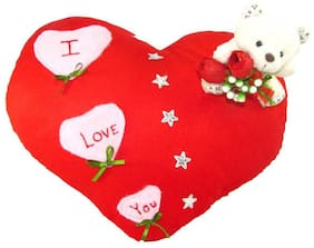 Tickles Red I Love You Heart Cushion Stuffed Soft Toy - 35 Cm