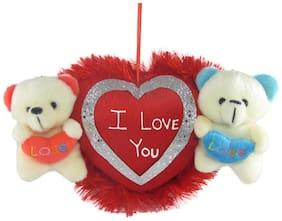 Tickles White & Red Teddy Bear - 13 cm