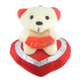Tickles Red Adorable Teddy Sitting On Heart Stuffed Soft Plush Toy 11 Cm
