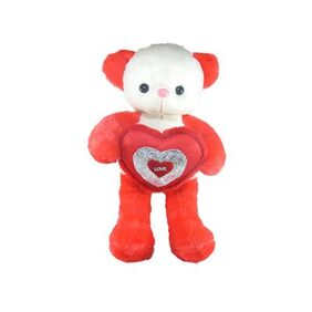 Tickles Red Cute Teddy With Lovely Heart Stuffed Soft Plush Toy