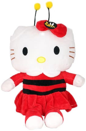 Tickles Red Bee Cute Hello Kitty Soft Stuffed For Kids 32 cm