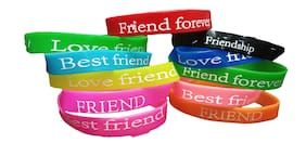 Tickles Rubber Friendship Band For Friendship Day ( Pack of 12 )