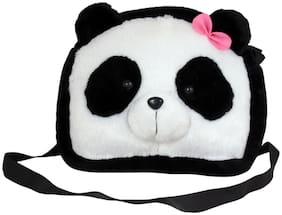 Tickles Sling School Bag Purse for Nursery Kids Girls Boys 26 cm (Panda)