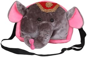 Tickles Soft Cute Elephant Shoulder School Sling Bag Purse for Nursery Kids Girls Boys 26 cm