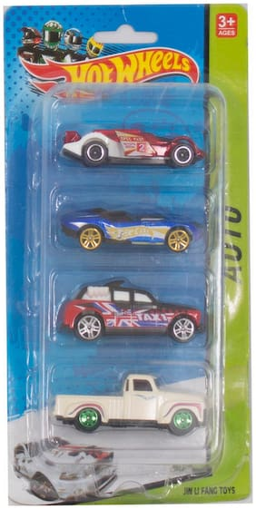 Tickles Multicolor Speed Sports Car Set of Four Toy 3 Years Plus