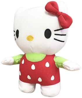 Tickles Strawberry Hello Kitty Soft Plush Toy Soft Stuffed For Kids 26 cm