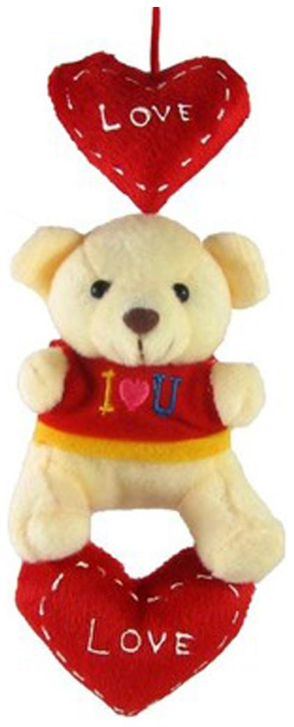 Tickles Teddy With Hanging Heart   18 Cm
