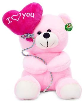 Tickles Pink Teddy Bear - 18 cm
