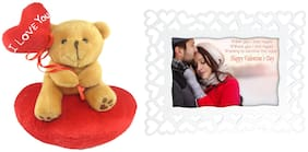 Tickles Teddy with Rose Stuffed Soft Plush Toy for Kids 45 cm Set