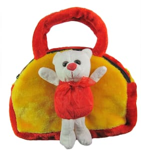 Tickles Teddy Hand bag Soft Stuffed For Kids 15 cm ( 2 L )