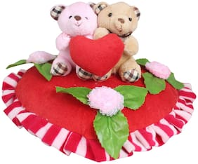 Tickles Valentine Day Special Couple on Red Heart Soft Stuffed for Girlfriend Boyfreind Husband Girlfriend 30 cm