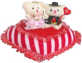 Tickles Valentine Cute Couple Teddy On Lovely Heart Valentine Day Gift for Girlfriend Boyfriend Husband Wife 30 cm