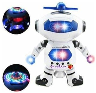 Tickles White Naugty Dancing Robot Toy