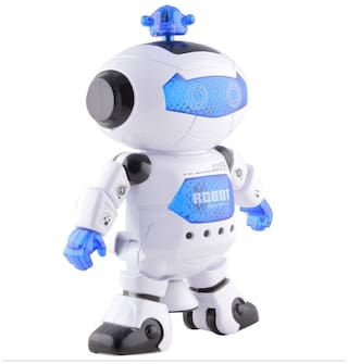 Tickles White Naugty Dancing Robot LED Light and Music Toy 22 cm