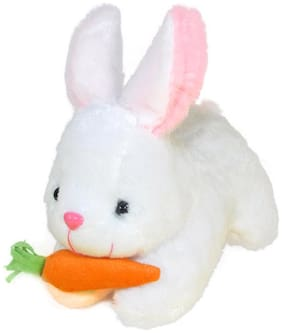 Tickles White Rabbit With Carrot Stuffed Soft Plush Toy- 26 Cm