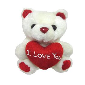 Tickles White Tiny Cute Teddy With I Love You Heart Stuffed Soft Plush Toy 13 Cm