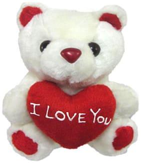 Tickles White Teddy Bear - 13 cm